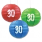 "10"" 30th Paper lantern 3 pack for party-(50sets for 150 lanterns"