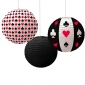 "10"" Poker Paper lantern for party-3 pack"