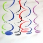 Rainbow Hanging PAPER Swirl Decorations-10/pk