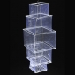 5 Tier Square Shaped Sari Chandelier Lantern-white