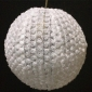 "8"" small Rose flower lace fabric lantern-white"
