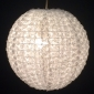 "12"" small Rose flower lace fabric lantern-white"