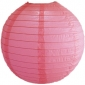 6 Inch Even Ribbing Hot Pink Paper Lanterns
