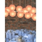 12 Inch Even Ribbing Peach Paper Lanterns
