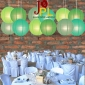 3*4 Assorted Color even ribbing Paper Lanterns(12pck)
