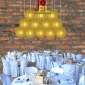 8 Inch Even Ribbing champagne Paper Lanterns