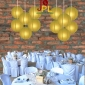24 Inch Even Ribbing champagne Paper Lanterns