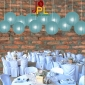 14 Inch Even Ribbing Slate Blue Paper Lanterns