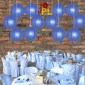 14 Inch Even Ribbing Navy Blue Paper Lanterns