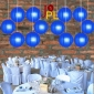 14 Inch Even Ribbing Dark Blue Paper Lanterns