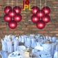 8 Inch Even Ribbing Burgundy Paper Lanterns