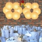 30 Inch Even Ribbing Squash Paper Lanterns