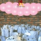 8 Inch Even Ribbing Pink Paper Lanterns