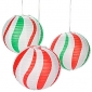 "12"" Peppermint Candy Balloon Hanging Paper Lanterns"