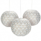 "12"" Metallic Lily Hanging Paper Lanterns"