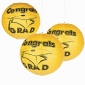 "12"" Yellow Congrats Grad Hanging Paper Lanterns"