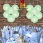 36 Inch Even Ribbing Robin-egg Paper Lanterns