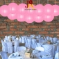 8 Inch Even Ribbing Hot Pink Paper Lanterns