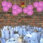 8 Inch Even Ribbing Violet Paper Lanterns