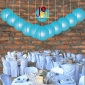8 Inch Even Ribbing Turquoise Paper Lanterns