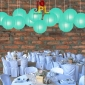 8 Inch Even Ribbing Tiffany Blue Paper Lanterns