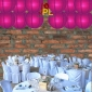 8 Inch Even Ribbing Plum Paper Lanterns