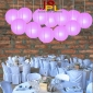8 Inch Even Ribbing Lilac Paper Lanterns