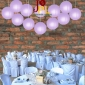 8 Inch Even Ribbing Lavender Paper Lanterns