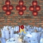 8 Inch Even Ribbing Mauve Paper Lanterns