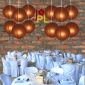 8 Inch Even Ribbing Brown Paper Lanterns