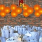 8 Inch Even Ribbing BUTTERSCOTCH Paper Lanterns