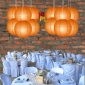 8 Inch Even Ribbing Orange Paper Lanterns