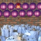 8 Inch Even Ribbing Purple Paper Lanterns
