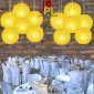 8 Inch Even Ribbing Yellow Paper Lanterns
