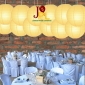 8 Inch Even Ribbing Light Yellow Paper Lanterns