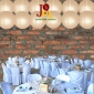 8 Inch Even Ribbing Latte Paper Lanterns