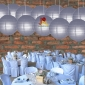 8 Inch Even Ribbing Charcoal Grey Paper Lanterns