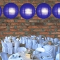 24 Inch Even Ribbing Royal Blue Paper Lanterns