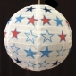 "16"" white star nylon lantern"