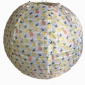 "16"" pineapple patterned nylon lantern"