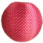 "16"" polka dot red nylon lantern"