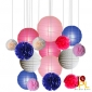 16pcs Assorted paper decorations for wedding w party