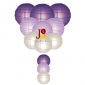 12-set paper lanterns Purple N White