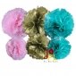 6-set Tissue pom poms for gold pink