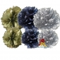 6-set Tissue pom poms for gold Silver