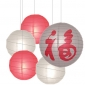 5per-set Chinese Calligraphy Assorted Paper Lanterns