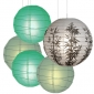 5per-set Bamboo Assorted Paper Lanterns