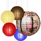 40 x 5per-set Floral Assorted Paper Lanterns