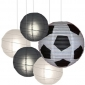 40 x 5per-set Football Assorted Paper Lanterns