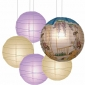 40 x 5per-set Ancient beauty Assorted Paper Lanterns